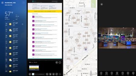 4 ứng dụng có thể hiển thị đồng thời trên màn hình Windows 8.1