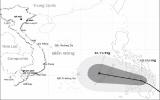 Áp thấp nhiệt đới hướng vào khu vực Nam Trung bộ