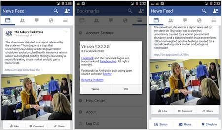 Ứng dụng Facebook cho Android phiên bản mới sẽ có sự thay đổi về giao diện