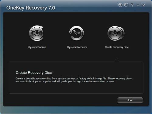Tính năng OneKey Recovery giúp việc khôi phục hệ thống đơn giản, nhanh chóng.