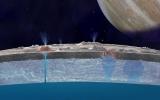 Tia nước bắn ra từ cực nam vệ tinh của sao Mộc