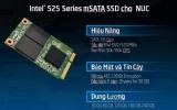 Intel SSD mSATA 525 tạo bệ phóng tốc độ cho NUC