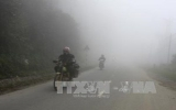 Bắc Bộ vẫn rét đậm, sương mù và băng giá bao trùm