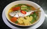 Canh cá chỉ vàng nấu ngọt