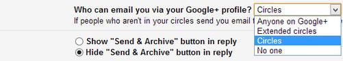Cách chặn email lạ gửi từ Google+ tới Gmail