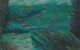 Chàng họa sĩ lặn xuống đáy biển vẽ tranh