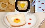 Bánh mì trứng ốp la nhân ngày 14-2