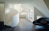 Cầu thang xoắn ốc nghệ thuật cho nhà nhỏ hẹp