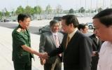 Một số hình ảnh hoạt động của Thủ tướng Chính phủ Nguyễn Tấn Dũng tại lễ khởi động thành phố mới Bình Dương