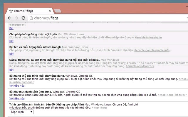 Kích hoạt tính năng Thư mục trong Chrome App Launcher