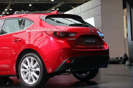 Đuôi xe Mazda3 mới phiên bản hatchback