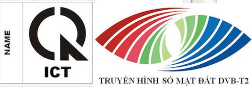 Mẫu dấu hợp quy và logo biểu trưng số hóa truyền hình gắn trên các sản phẩm thu phát truyền hình kỹ thuật số khi đưa vào lưu thông trên thị trường Việt Nam