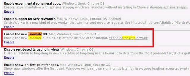 Kích hoạt giao diện chuyển ngữ mới trong Google Chrome
