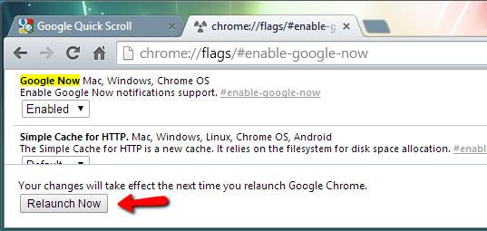 Làm thế nào để kích hoạt Google Now trên Desktop Windows?