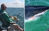 Câu được cá mập trắng khổng lồ