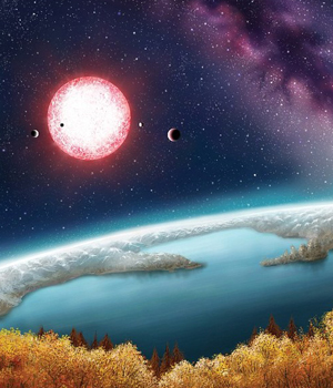 NASA phát họa về cảnh quan trên Kepler- 186f .
