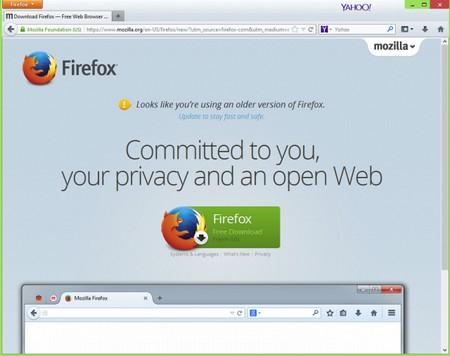 Sự khác biệt hoàn toàn trong giao diện giữa Firefox 28 cũ (trên) và Firefox 29 mới