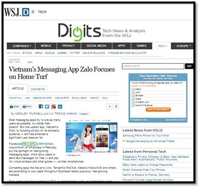 Việt Nam vẫn là thị trường mà Zalo hướng đến