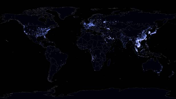Bản đồ quốc tế người dùng Zalo cho thấy ứng dụng này đã có mặt ở nhiều khu vực trên thế giới