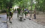 Đoàn thanh niên Sở Cảnh sát phòng cháy và chữa cháy: Làm đường giao thông nông thôn
