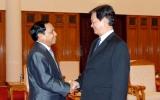 Thủ tướng Nguyễn Tấn Dũng tiếp Tổng Thanh tra Chính phủ Lào