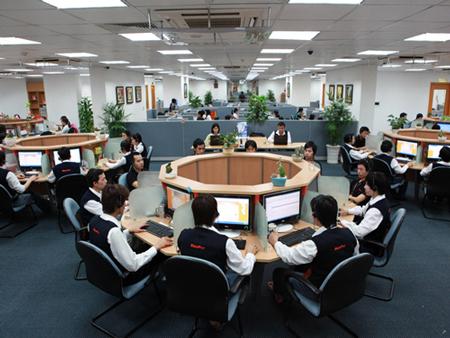 Đội ngũ nhân viên chăm sóc khách hàng tại Bkav.