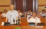 Tổng Bí thư chủ trì phiên họp Tiểu ban Văn kiện Đại hội Đảng XII