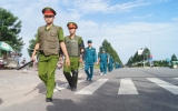 Công an huyện Bàu Bàng:  Hành quân dã ngoại thị uy