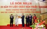 Đón bằng công nhận Di sản tư liệu Châu bản triều Nguyễn