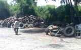 Điểm thu gom vỏ xe cũ, gây ô nhiễm môi trường!