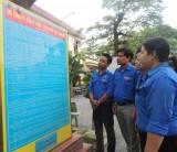 Công trình lắp đặt Bản  Di chúc của Chủ tịch Hồ Chí Minh: Giáo dục đạo đức thanh niên