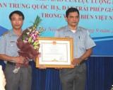 Khen thưởng tập thể, cá nhân có thành tích xuất sắc trong đấu tranh bảo vệ chủ quyền biển đảo