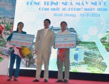 Nhà thầu xây dựng Nhà máy nước Dĩ An 2: Ủng hộ 100 triệu đồng vào quỹ từ thiện Thị xã Dĩ An, Thuận An