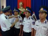 """67 chiến sĩ cảnh sát biển 3, nhận Huy hiệu """"Tuổi trẻ dũng cảm"""""""