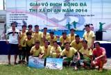 CLB Thiên Đông vô địch Giải bóng đá thị xã Dĩ An năm 2014