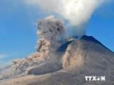 Núi lửa Sinabung cao 2.457m tại Indonesia lại bắt đầu phun trào