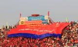 Hội CĐV bóng đá Bình Dương: Sử dụng đại cờ cổ vũ B.BD tại Mekong Cup 2014