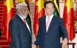 Thủ tướng Nguyễn Tấn Dũng đón và hội đàm với Thủ tướng Vanuatu