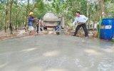 Xã Định An Khởi công đường bê tông hóa 100% nguồn vốn nhân dân