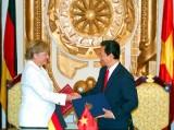 Mở trang mới trong quan hệ chiến lược Việt-Đức