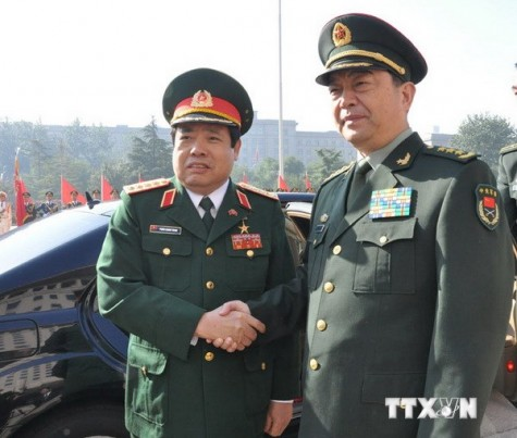 Bộ trưởng Quốc phòng hội kiến Phó Chủ tịch Quân ủy TW Trung Quốc