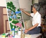 Nghề vẽ tranh kiếng ở Lái Thiêu