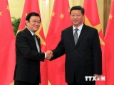 Chủ tịch nước gặp Chủ tịch Trung Quốc bên lề Hội nghị APEC