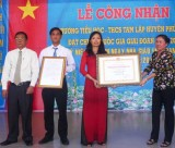Trường TH-THCS Tam Lập, huyện Phú Giáo: Đón nhận Bằng công nhận trường đạt chuẩn Quốc gia