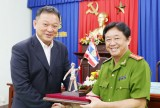 Đoàn cán bộ Học viện Cảnh sát Hoàng gia Thái Lan thăm và làm việc tại Công an Bình Dương