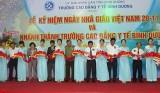 Trường Cao đẳng y tế Bình Dương kỷ niệm ngày Nhà giáo Việt Nam và khánh thành trụ sở giai đoạn 1