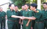 Thượng tướng Nguyễn Huy Hiệu thăm Bộ Chỉ huy Quân sự tỉnh