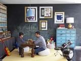 Bức tường thỏa sức vẽ trong phòng của bé