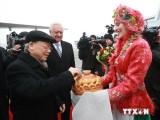 Tổng Bí thư Nguyễn Phú Trọng bắt đầu thăm chính thức Belarus