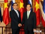 Thủ tướng Nguyễn Tấn Dũng đón, hội đàm với Thủ tướng Thái Lan